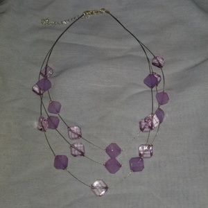 Necklace with purple stones